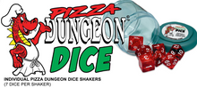 Load image into Gallery viewer, Reaper: Lucky Dice - Clear Purple (Pizza Dungeon Dice)