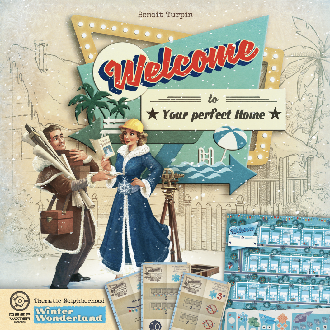 Welcome to... Winter Wonderland Thematic Neighbourhood Sheet & Plans (50 sheets)