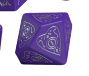 Divination Dice: Purple with Silver Single D10