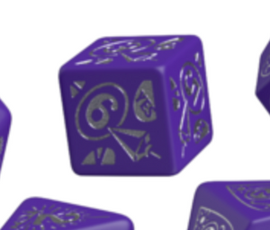 Divination Dice: Purple with Silver Single D6