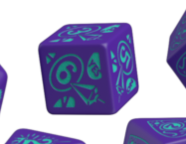 Divination Dice: Purple with Teal Single D6