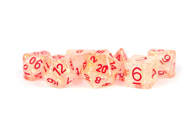MDG Resin Flash Dice Set 16mm Polyhedral - Red