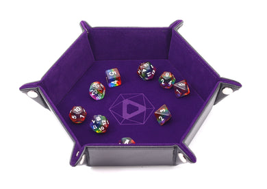 Die Hard Dice Folding Hex Tray - Purple Velvet