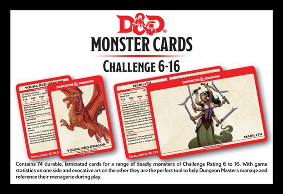 D&D Spellbook Cards: Monsters CR 6-16 (126 Cards)