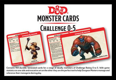 D&D Spellbook Cards: Monsters CR 0-5 (242 Cards)