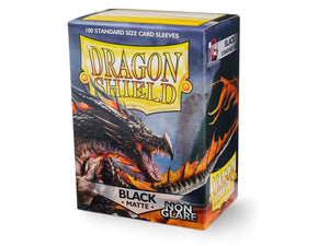 Sleeves - Dragon Shield - Box 100 - Non Glare - Black