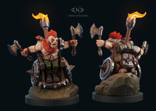 Load image into Gallery viewer, Dungeons and Diversity Dwarf Barbarian (Metal/Resin)