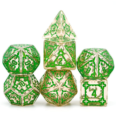 Pink w/Green Huge Castle Dice
