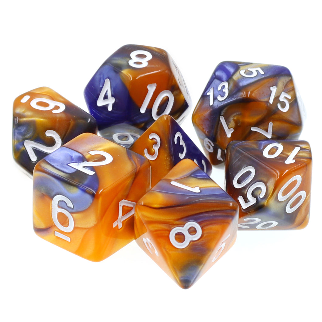 Udixi: Dark Blue-Gold Blend Dice