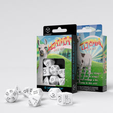Load image into Gallery viewer, Bright Llama Dice Set (White & black)