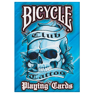 Bicycle Playing Cards - Club Tattoo - Blue