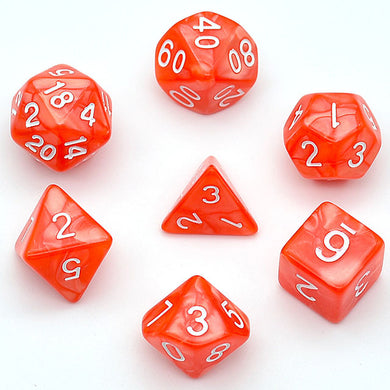 Udixi: Orange-Red Marble Dice