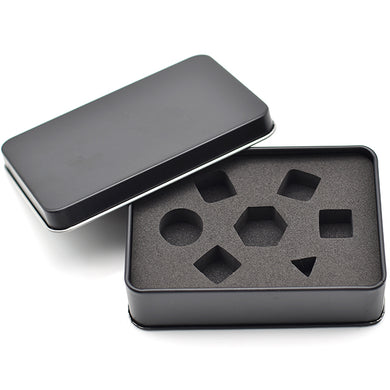Black Metal Dice Storage Tin (Tall)