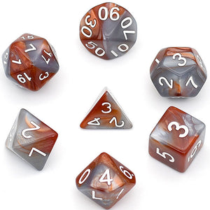 Udixi: Silver-Brown Blend Dice