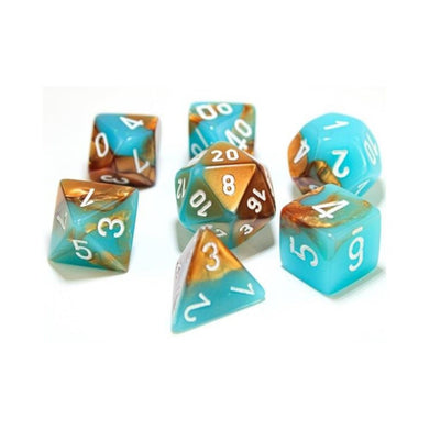 CHX30019: Gemini Copper-Turquoise/white 7-Die Set