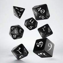 Load image into Gallery viewer, Classic RPG Black & White Dice Set