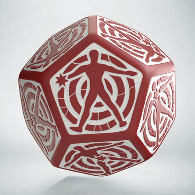 D12 Hit Location Red & white die