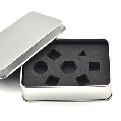 Silver Metal Dice Storage Tin