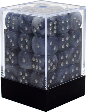 CHX27888: Phantom Black/Silver 12mm d6 (36) dice set