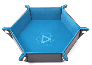 Die Hard Dice Folding Hex Tray - Teal Velvet