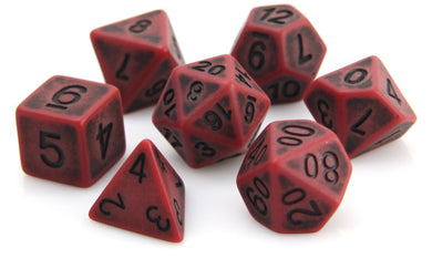 Die Hard Dice Polymer RPG Polyhedral Set - Blood Golem