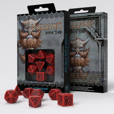 Dwarven Red & black Dice Set