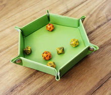 "Load image into Gallery viewer, Hex Dice Tray 6"" Green"