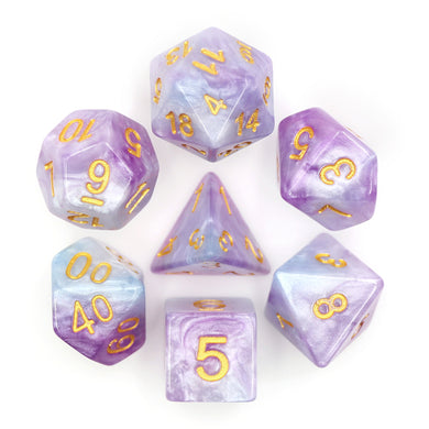 HD Dice: Lustrous Marble Purple and Blue