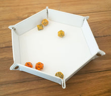 "Load image into Gallery viewer, Hex Dice Tray 8"" White"