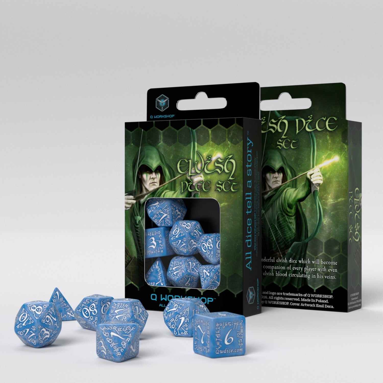 Elvish Glacier & White Dice Set