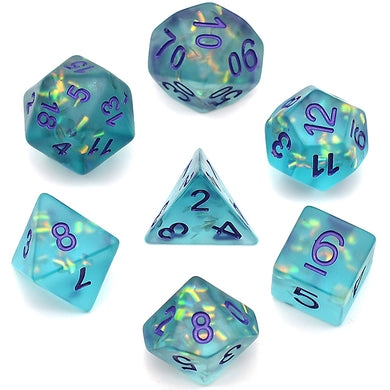 Udixi: Frosted Mermaid Green Dice