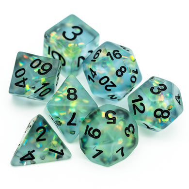 Udixi: Blue Frosted Mermaid Dice