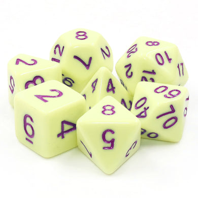 HD Dice: Eggshell Rose (purple font)