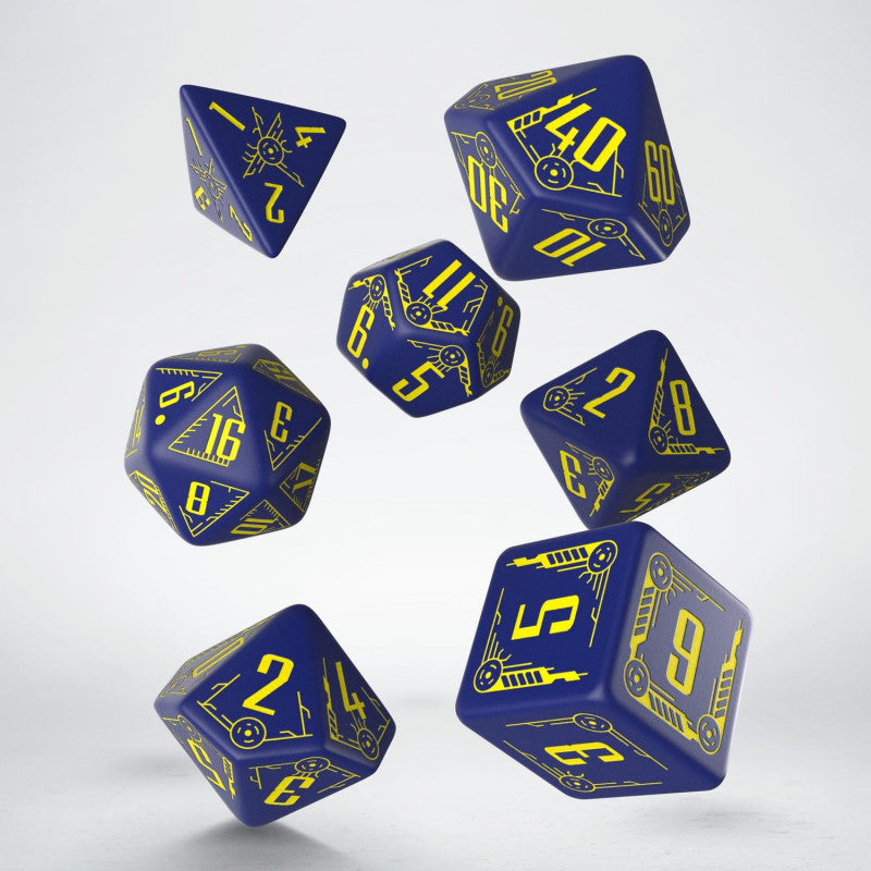 Galactic Navy & Yellow Dice Set