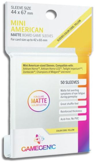 Gamegenic Matte Mini American Sleeves (44mm x 67mm)