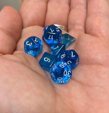 Bescon Dice: Cyan Mini Dice Set