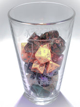 Load image into Gallery viewer, Chessex Rolling 20s Lab Dice Limited Edition Pint Glass