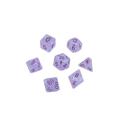 Purple Frosted Dice Set