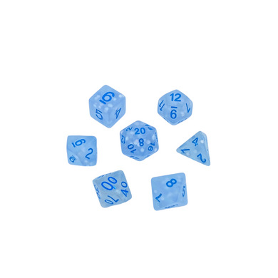 Blue Frosted Dice Set