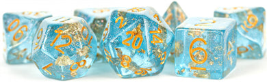 MDG Digital Resin Dice Set 16mm - Blue with Gold Foil