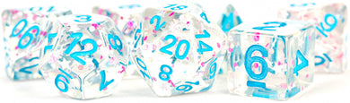 MDG Digital Resin Dice Set 16mm - Clear Confetti