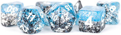 MDG Digital Resin Dice Set 16mm - Particle Dice: Blue/Black