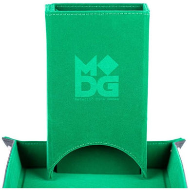 MDG - Fold Up Velvet Dice Tower (Green)