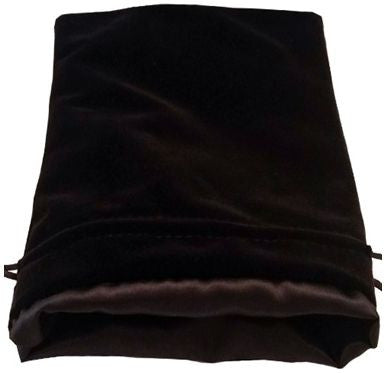 MDG Large Velvet Dice Bag Black w/Black Satin Lining