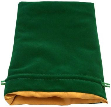 MDG Large Velvet Dice Bag Green w/Gold Satin Lining