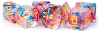 MDG Unicorn Resin Polyhedral Dice Set - Cosmic Carnival