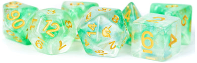 MDG Unicorn Resin Polyhedral Dice Set - Icy Everglades