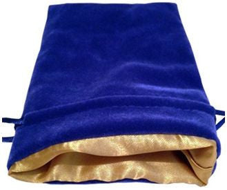 MDG Blue Velvet Dice Bag w/Gold Satin Lining