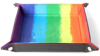 MDG Velvet Folding Dice Tray - Watercolour Rainbox (10