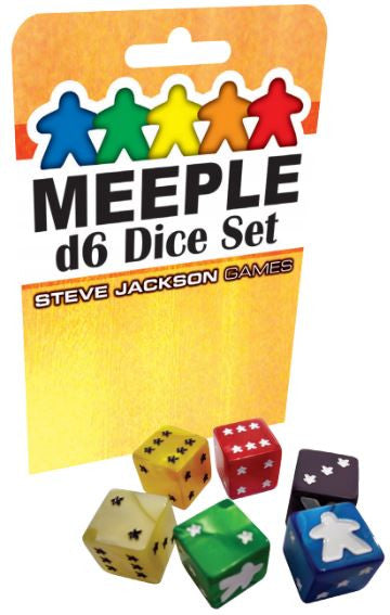 Meeple D6 Dice Set - Red